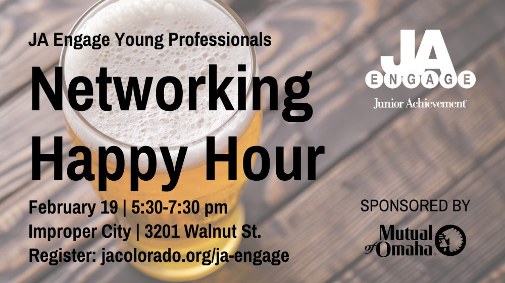 Networking happy hour. Wednesday February 19, 5:30-7:30 pm. Improper City, 3201 Walnut Street