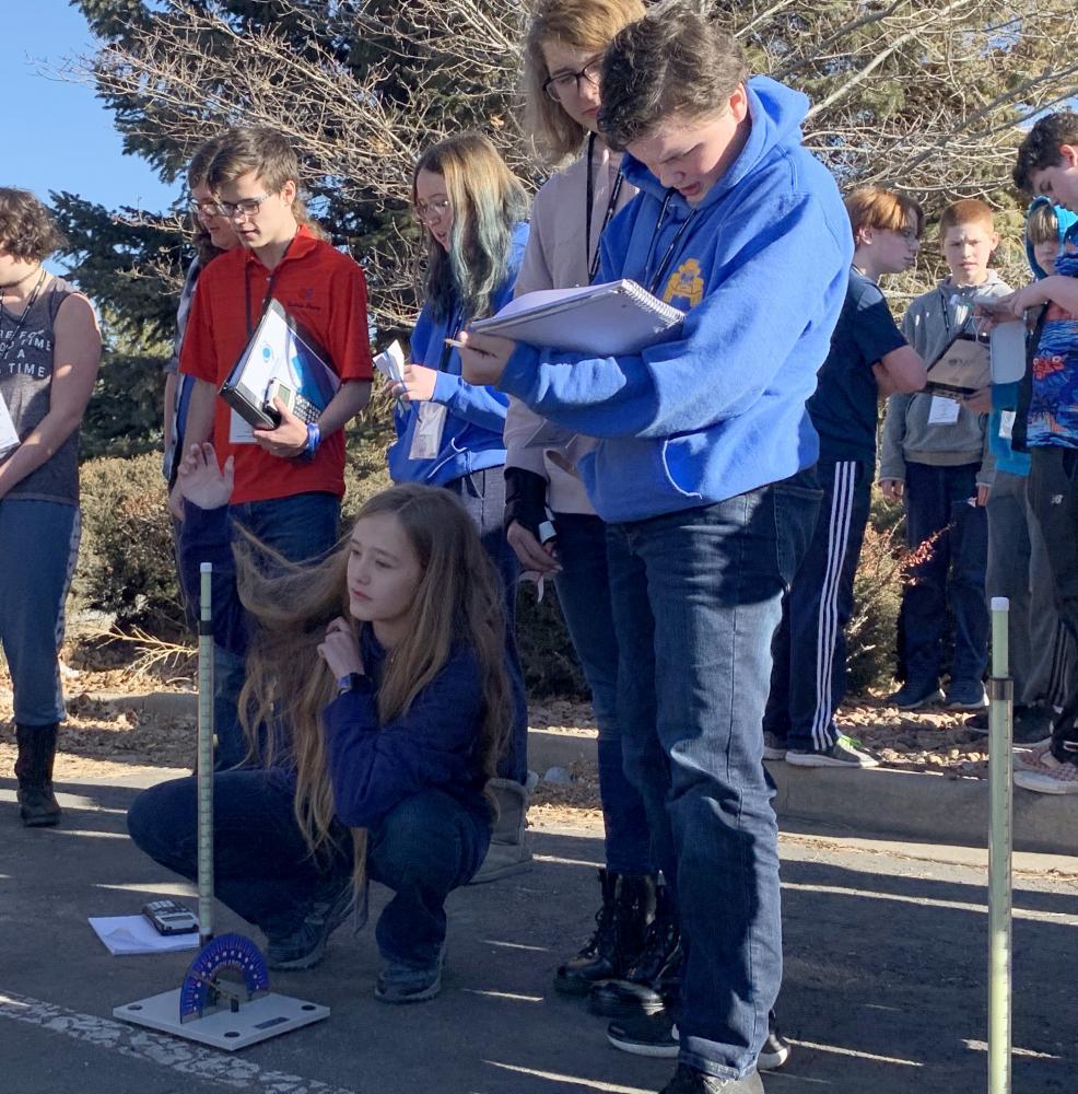 JSEP students working on rocket design activity