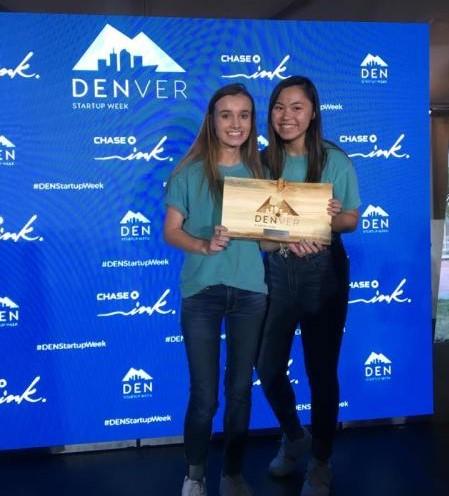 Mia Hayden and Melanie Zhou at Denver Startup Week