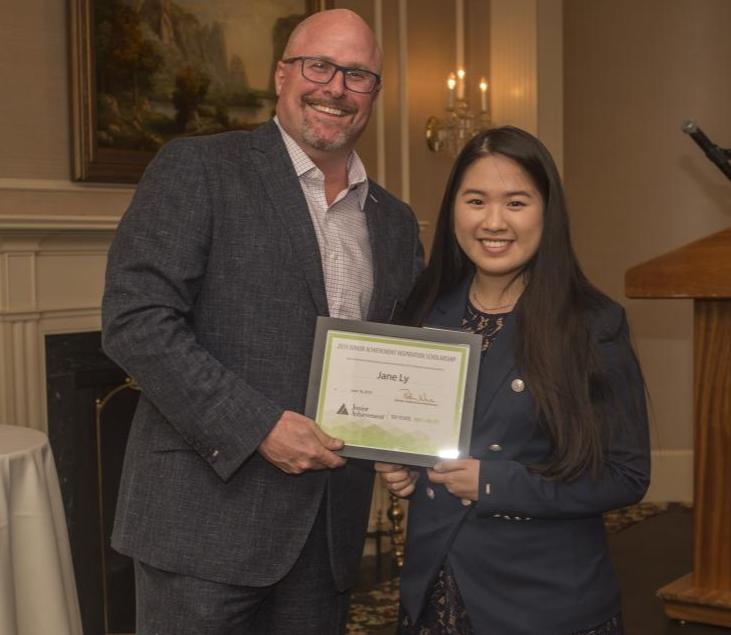 JA Inspiration Scholar Jane Ly accepts her award